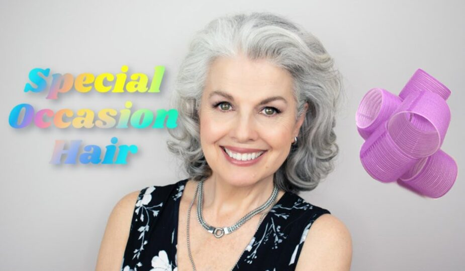 Kerry Lou uses rollers for special occasion hairstyle